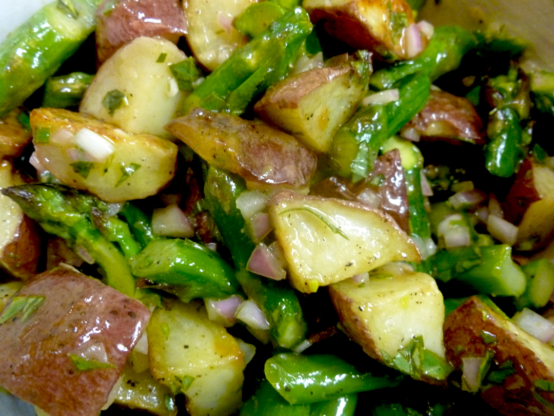 Warm Asparagus and Potato Salad with Lemon Tarragon Vinaigrette
