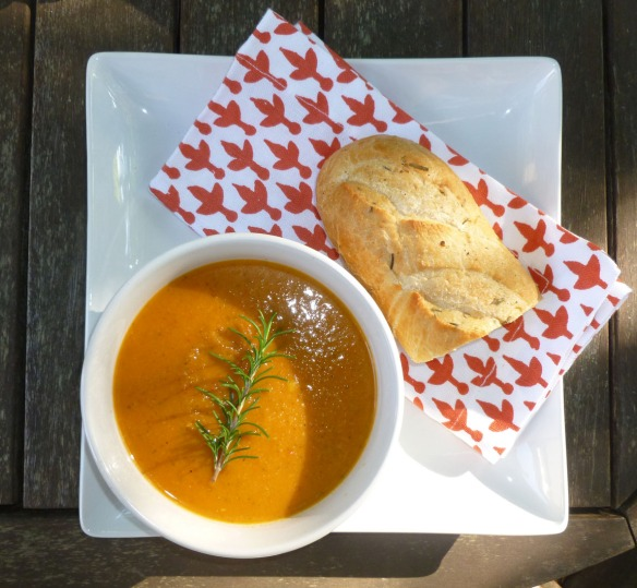 There's just something about a bowl of soup and some good bread that says