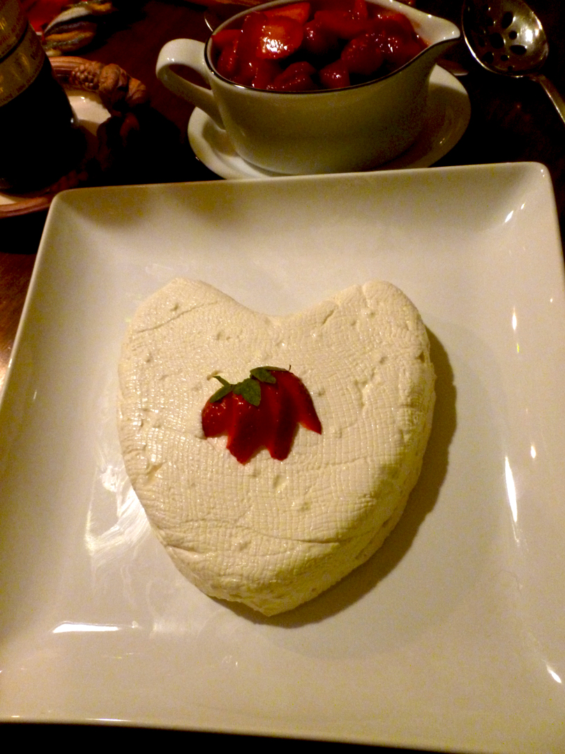 ... Coeur a la Creme with Strawberry Raspberry Grand Marnier Sauce | bits