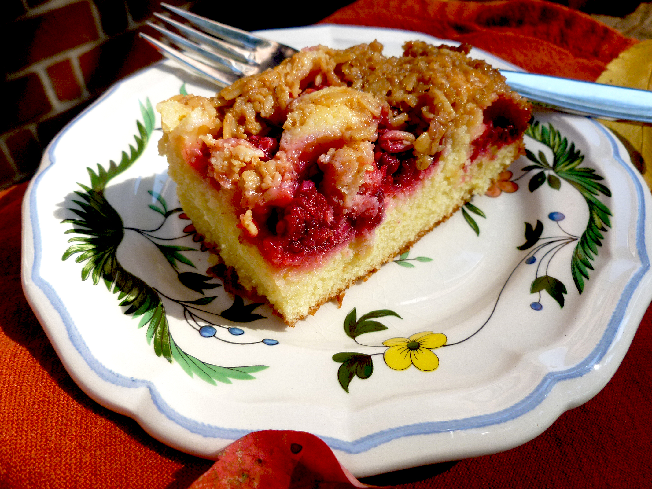 Breaking the Fast: Raspberry Almond Coffee Cake | bits and breadcrumbs