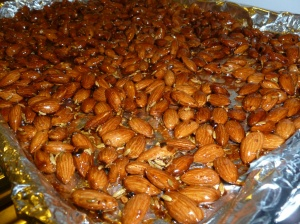 Then I had to make some of those addictive red pepper and fennel glazed almonds.