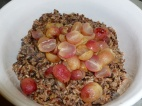 Half your roasted grapes and add them to the rice.