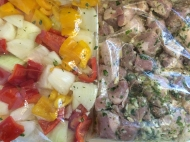 Marinade is the key...I add peppers and onions, too.