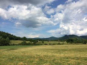 Beautiful pasture land in the valley at the base of Black Rock Mountain.