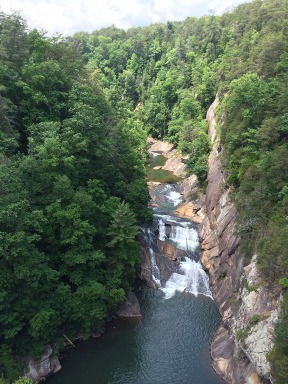 A better view of L'Eau d'or in Tallulah Gorge.