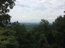 The view of the Atlanta skyline in the distance from the top of Kennesaw Mountain.