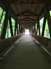 Inside the covered bridge.
