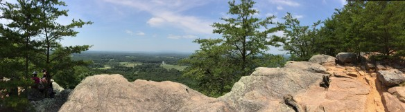 Panoramic view from the Indian Seats, Sawnee Mountain.