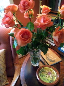 Beautiful roses for Valentine's from the hubby.