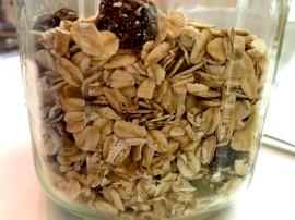 Mighty muesli in its jar...