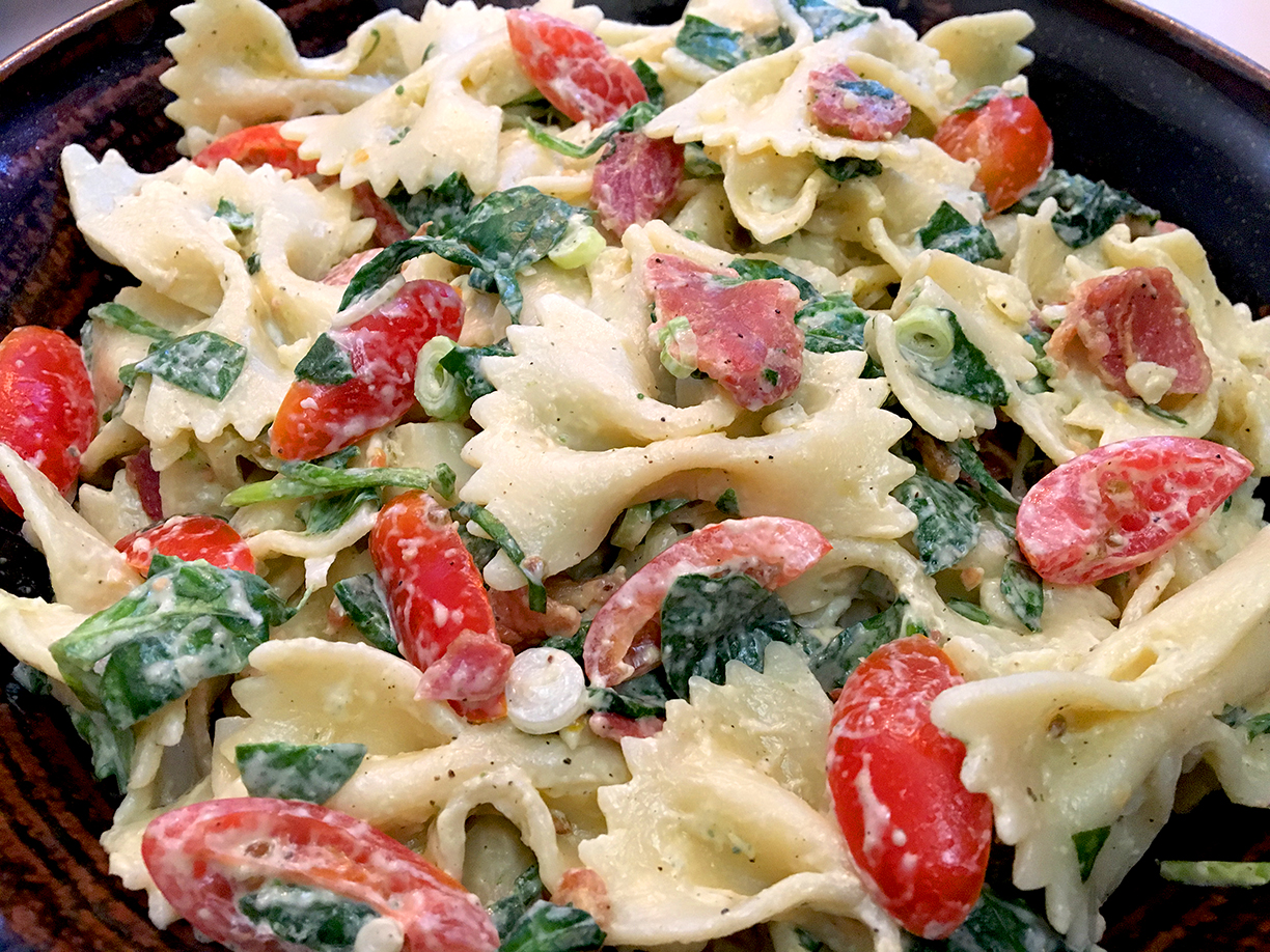 Cool And Dreamy Blt Inspired Pasta Salad Bits And