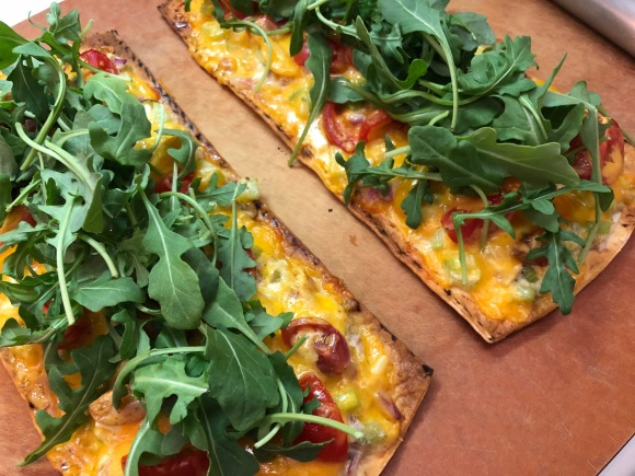 "Tuna Melt Flatbread Pizza ""all the way!"""